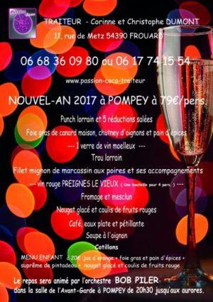 Réveillon du Nouvel an 2017-2018 à Pompey - Passion-Coco