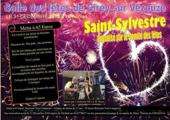 Réveillon du Nouvel an 2018-2019 à Cirey-sur-Vezouze - Salle des Fêtes