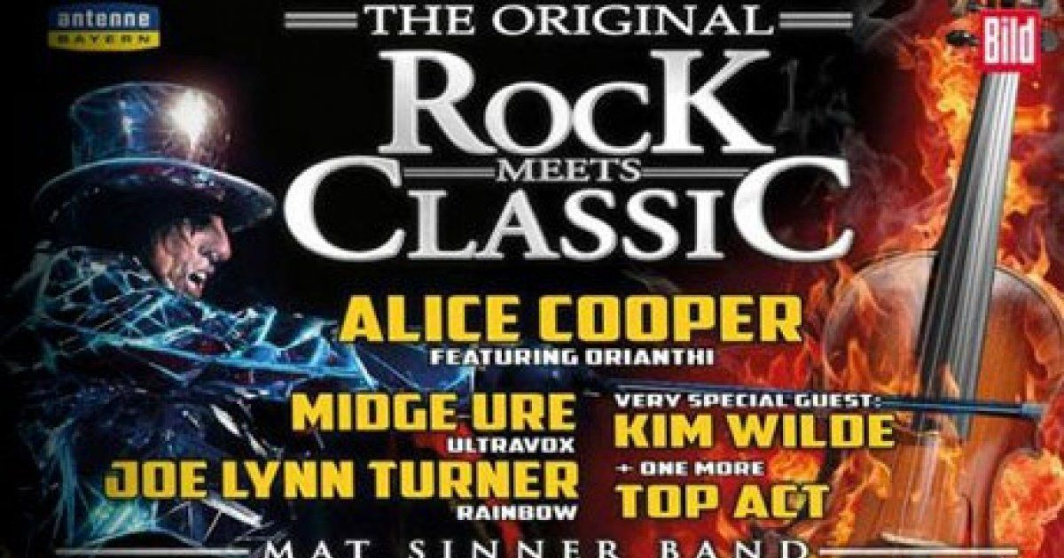 rock meets classic avec alice cooper et kim wilde strasbourg rock zenith. Black Bedroom Furniture Sets. Home Design Ideas