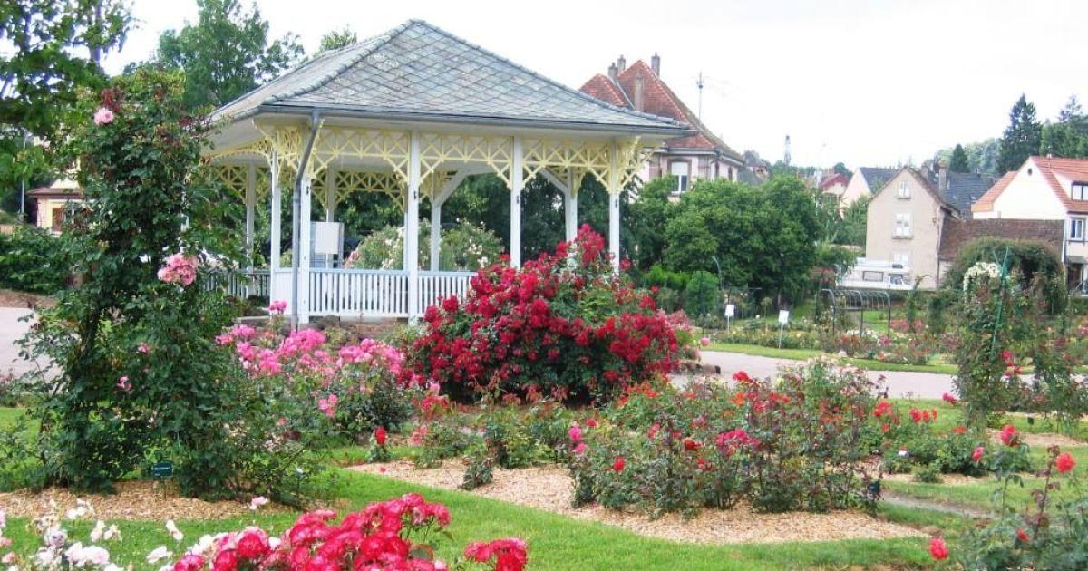Roseraie de saverne parc square et jardin for A la verticale du jardin grenoble