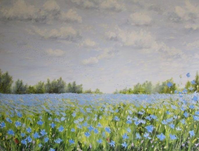 Une peinture de Brigitte Di Scala, invitée d\'honneur de l\'édition de mai 2015