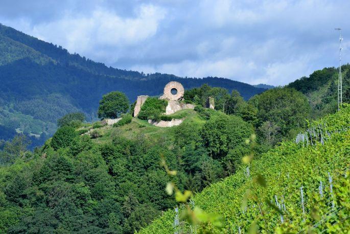Les ruines du château et le fameux \