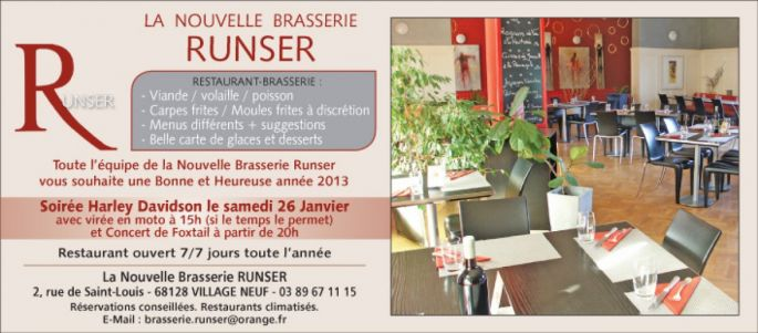 La Nouvelle Brasserie Runser