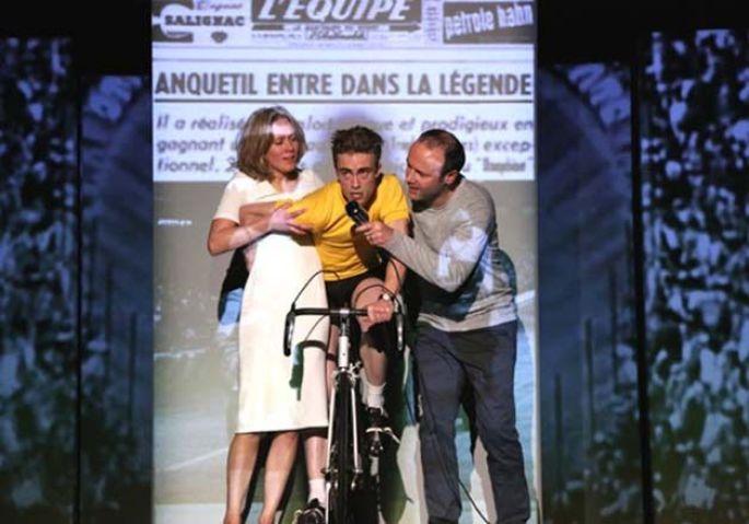 Anquetil tout seul, un récit sur le champion cycliste