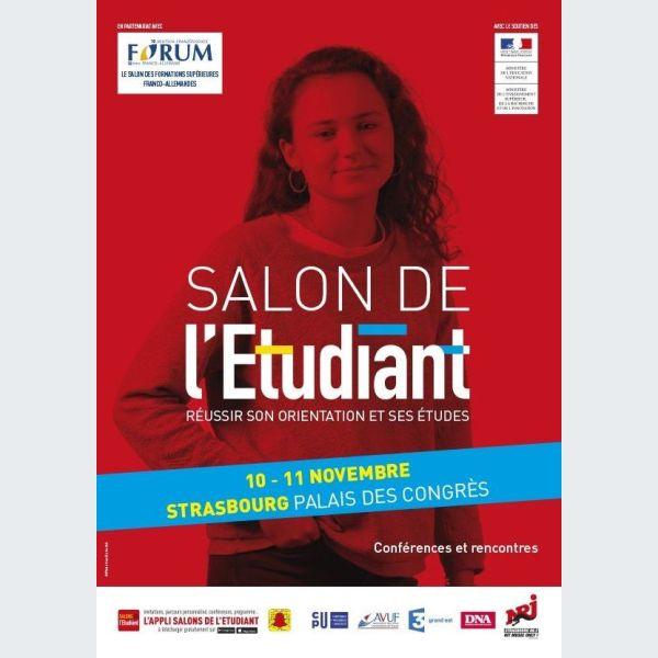 Salon de l 39 etudiant strasbourg orientation formation for Salon de musique strasbourg
