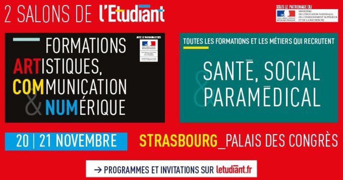 Salon de l 39 etudiant strasbourg pmc for Maison de l emploi strasbourg