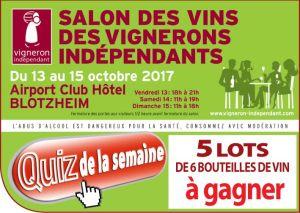 Salon des vins des vignerons indépendants à Blotzheim