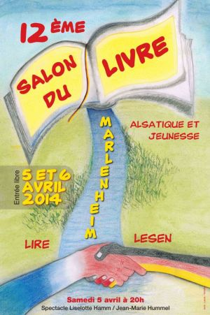 L\'affiche du Salon du Livre Alsatique et Jeunesse de Marlenheim 2014