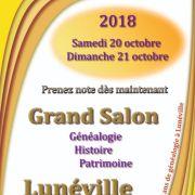 Salon Généalogie Histoire et Patrimoine à Lunéville 2018