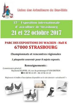 Salon international de l\'Aviculture 2017 à Strasbourg