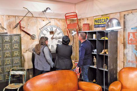 Le mobilier industriel, toujours tendance, sera encore présent sur le salon