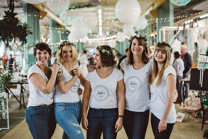Les cinq Nénettes à Paillettes, fondatrice du salon du mariage alternatif Ô l\'amour