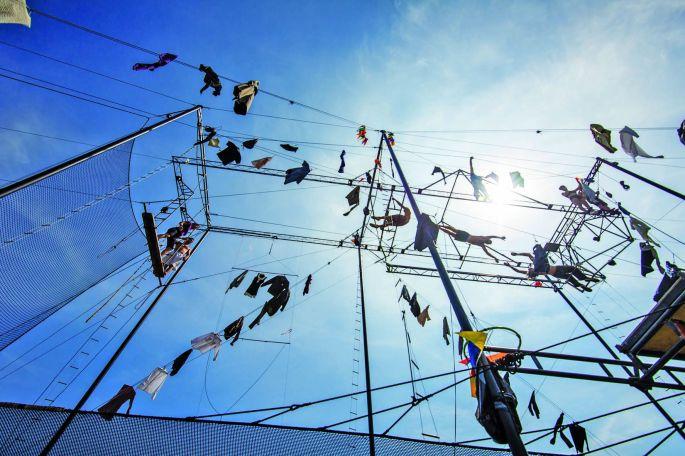 L\'installation folle de la compagnie La Tangente du Bras Tendu, présente en 2019