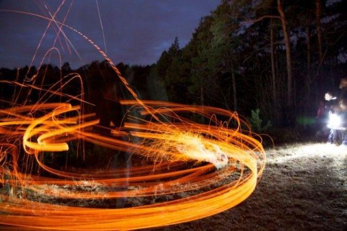 Schieweschlawe / Lancer de disques enflammés