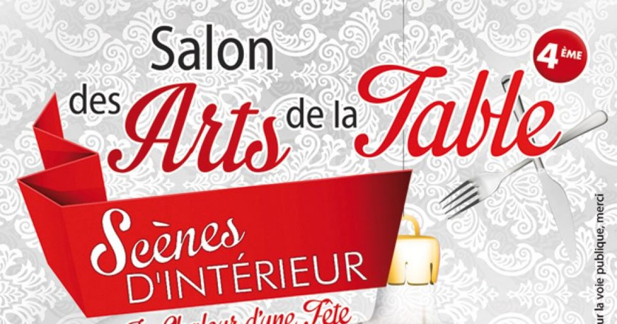 Sc nes d 39 int rieur salon des arts de la table sainte - Salon art de la table ...