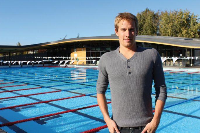 Sébastien Rouault, champion d\'Europe en 2010 du 800m et 1500m, s\'entraîne au Mulhouse Olympic Natation