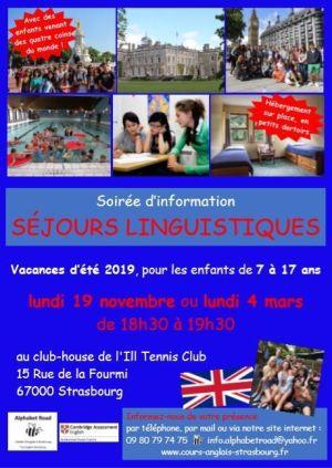 Séjours linguistiques en Angleterre - soirée d\'information