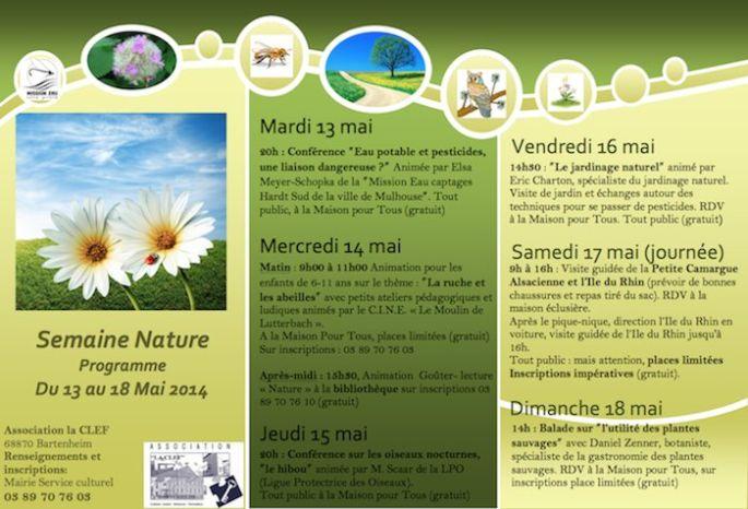 Semaine Nature - Bartenheim - Conférence - Maison pour Tous