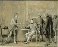 Signature du Concordat entre la France et le Saint-Siège, le 15 juillet 1801, par Gérard François Pascal Simon