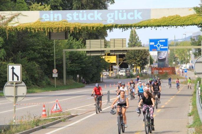 On enfourche son vélo pour découvrir le secteur des 3 Frontières lors du Slow Up Basel