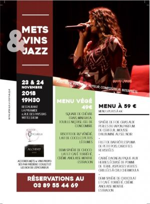 Soirée à la Pyramide - Accords mets, vins & Jazz