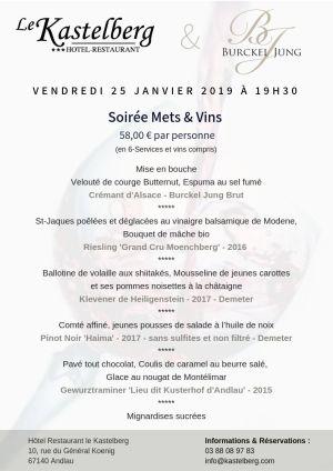 Soirée Mets & Vins