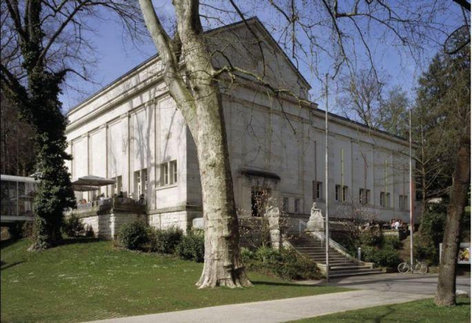 Entrée de la Kunsthalle de Baden-Baden