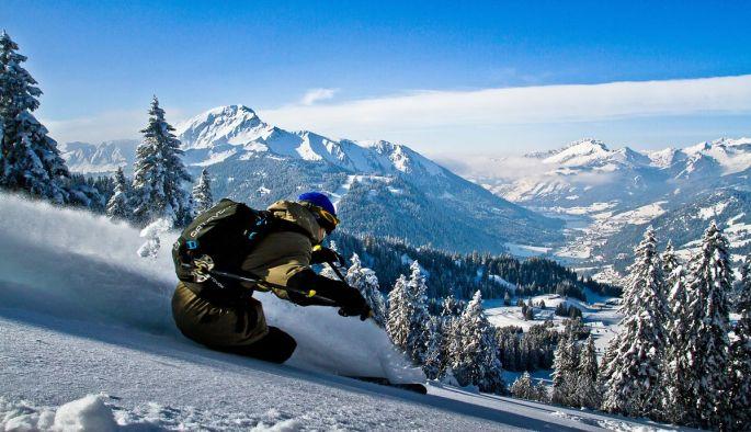 Freestyle dans un paysage alpin grandiose