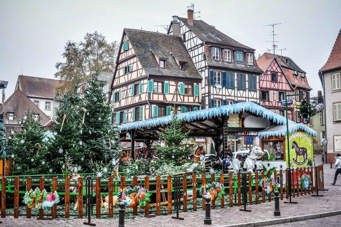Vous accédez facilement au marché de Noël de Colmar grâce au parking relais