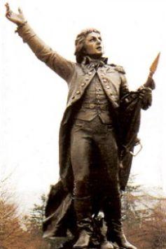 Statue par Bartholdi de l\'auteur de la Marseillaise, Rouget de Lisle, à Lons-le-Saunier, sa ville natale