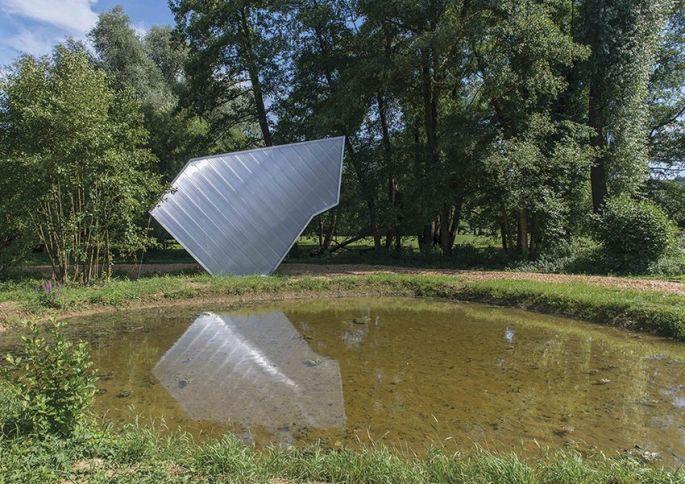 Papillon, de Julie Navarro, à Waldighoffen, installé lors d\'une précédente édition