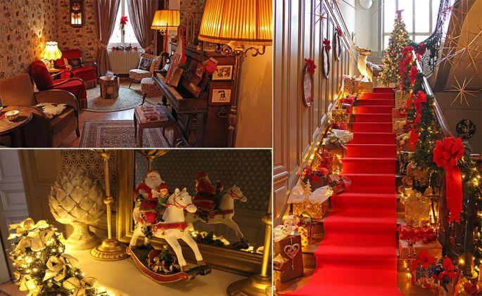 L'association Fêtes et veillées d'antan crée chaque année un décor de Noël féerique