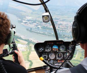 Survol de Neuf-Brisach en hélicoptère
