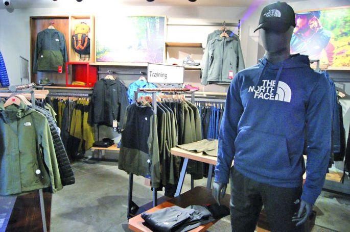 Le magasin The North Face à Mulhouse, cour des Maréchaux