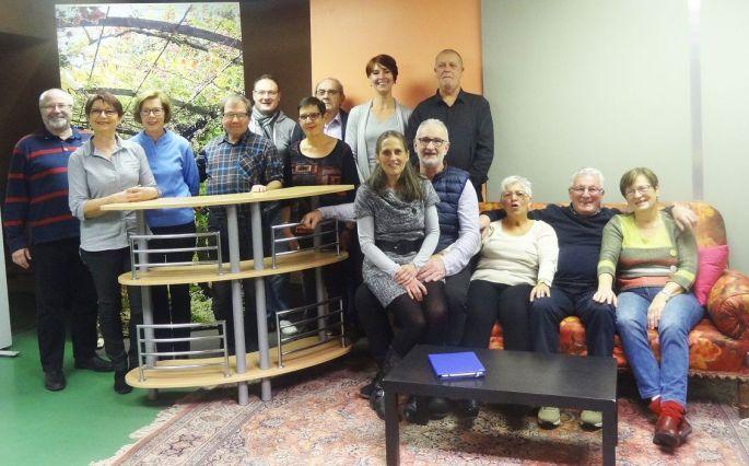 La troupe du Théâtre alsacien d\'Eguisheim