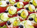 Tomates farcies froides & velouté givré de courgette