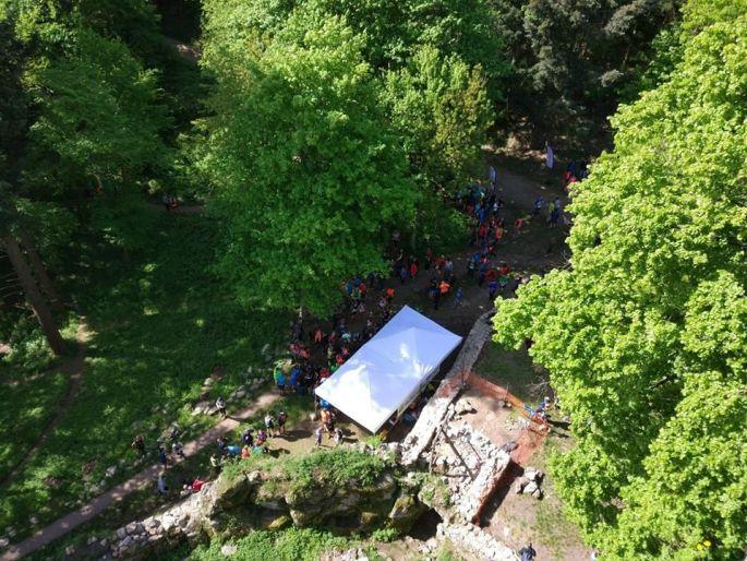 Une course à pied/trail autour du château du Berstein