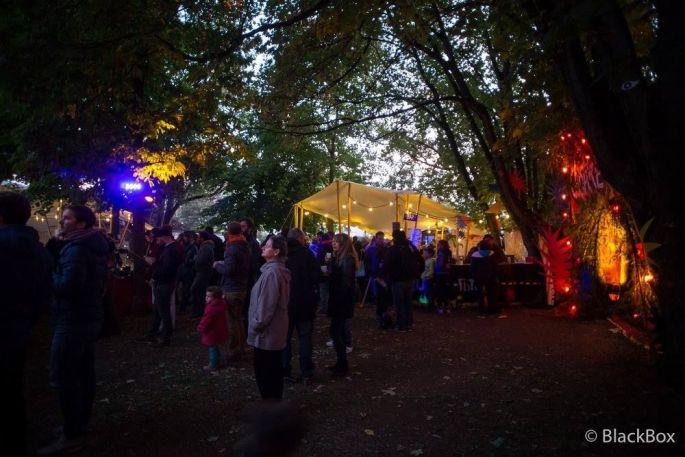 Le village du Tribu Festival Dijon où se retrouvent les festivaliers