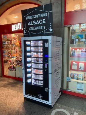 Le distributeur de spécialités alsacienne en gare de Strasbourg