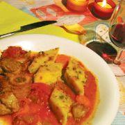 Un Jarret de veau aux tomates