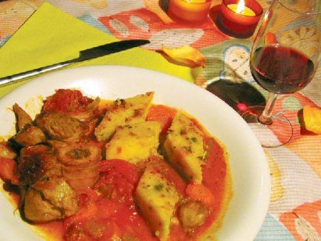 Le jarret de veau aux tomates