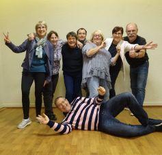 La joyeuse troupe de l\'association Loisirs, Art et Culture de Fessenheim !