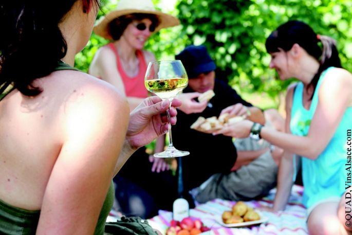 Un pique nique chez le vigneron indépendant alsacien, ça vous tente ?