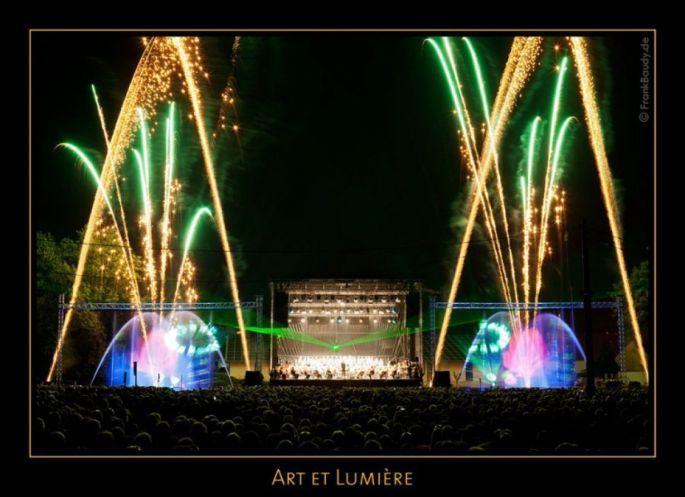 Un spectacle aquatique magique avec son et lumière à Furdenheim lors d\'Art et Lumière