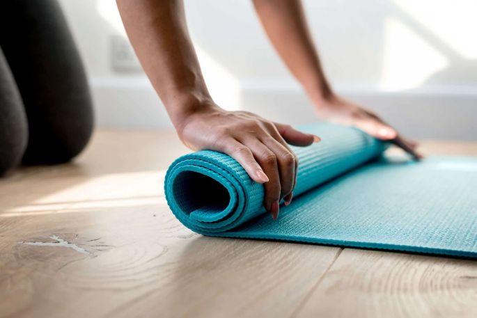 Un tapis de yoga, pour enchaîner les postures