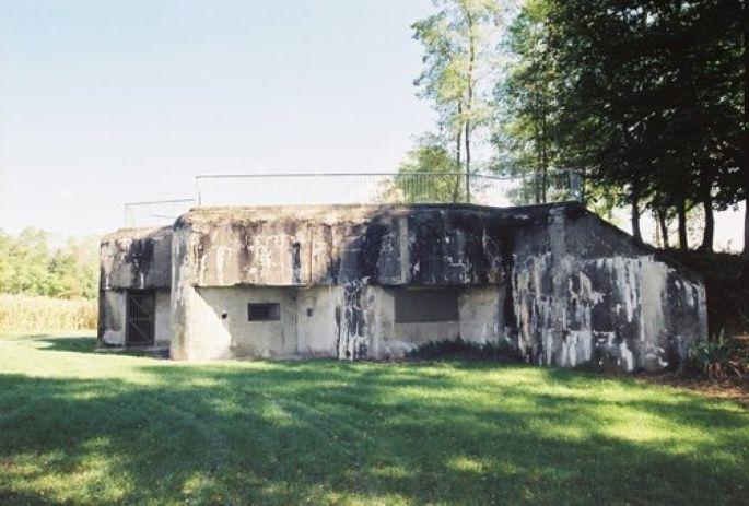 Une des casemates à l\'Ouest de Sierentz, sur le site d\'Uffheim
