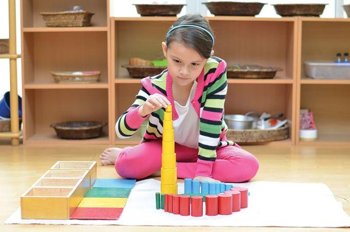 La pédagogie Montessori repose sur un matériel pédagogique très spécifique