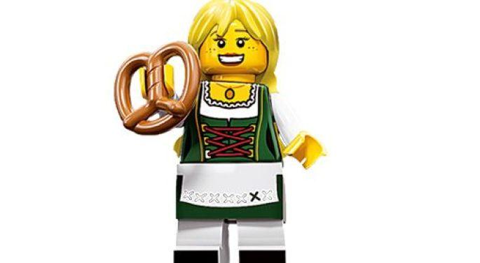 Une figure Légo® qui tient un bretzel