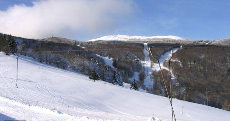 Une pente enneigée du Grand Ballon des Vosges