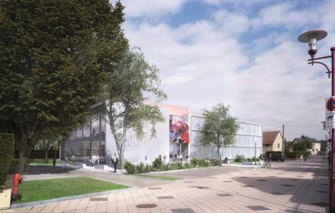 Une vue du Pôle culturel de Drusenheim, réalisée par l\'architecte en charge du projet